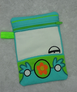Mystery Machine Zipper Bag 5x7 Embroidery Design (lined)